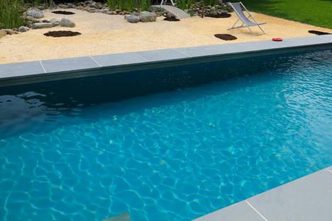 Biotop poolfarben aqua for Pool graue folie