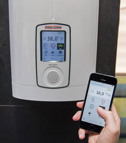 stiebel eltron die warmwasser app aqua. Black Bedroom Furniture Sets. Home Design Ideas