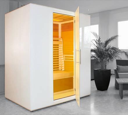 sauna infrarot ein haus aus glas aqua. Black Bedroom Furniture Sets. Home Design Ideas