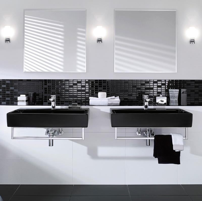 Badezimmer Black & White: Memento von Villeroy & Boch : aqua-emotion.de